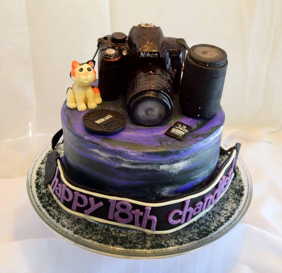 Peachy Nikon Camera Cake Cakecentral Com Personalised Birthday Cards Sponlily Jamesorg