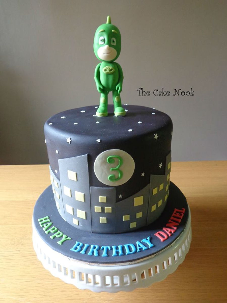 Fabulous Pj Masks Cake Cakecentral Com Personalised Birthday Cards Beptaeletsinfo