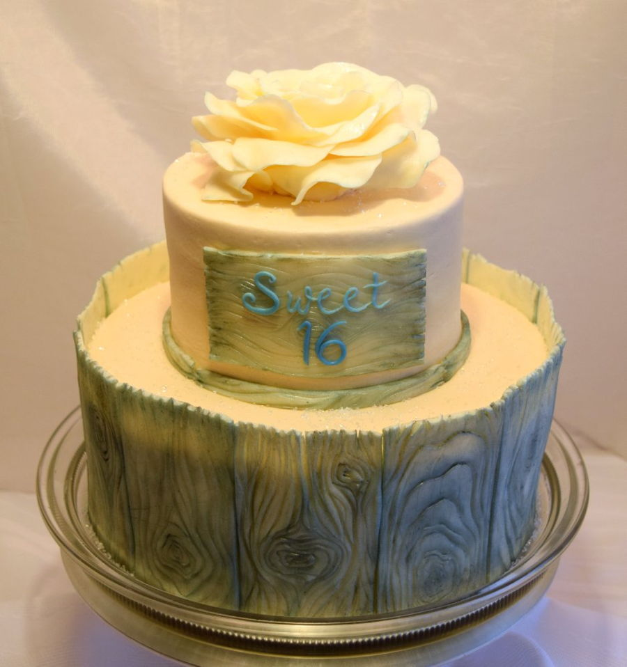 Rustic Sweet 16 Cake Cakecentral Com