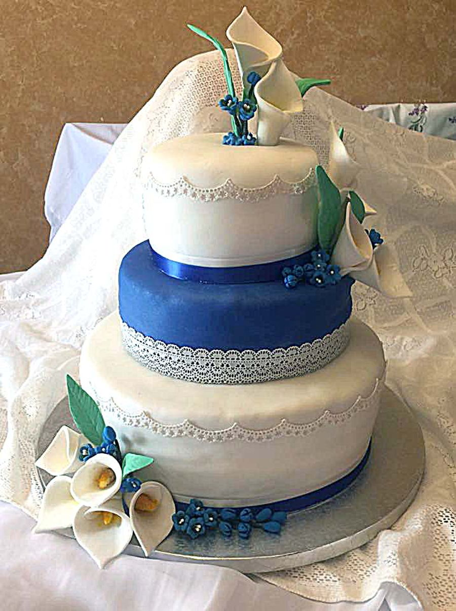 Sapphire Anniversary on Cake Central