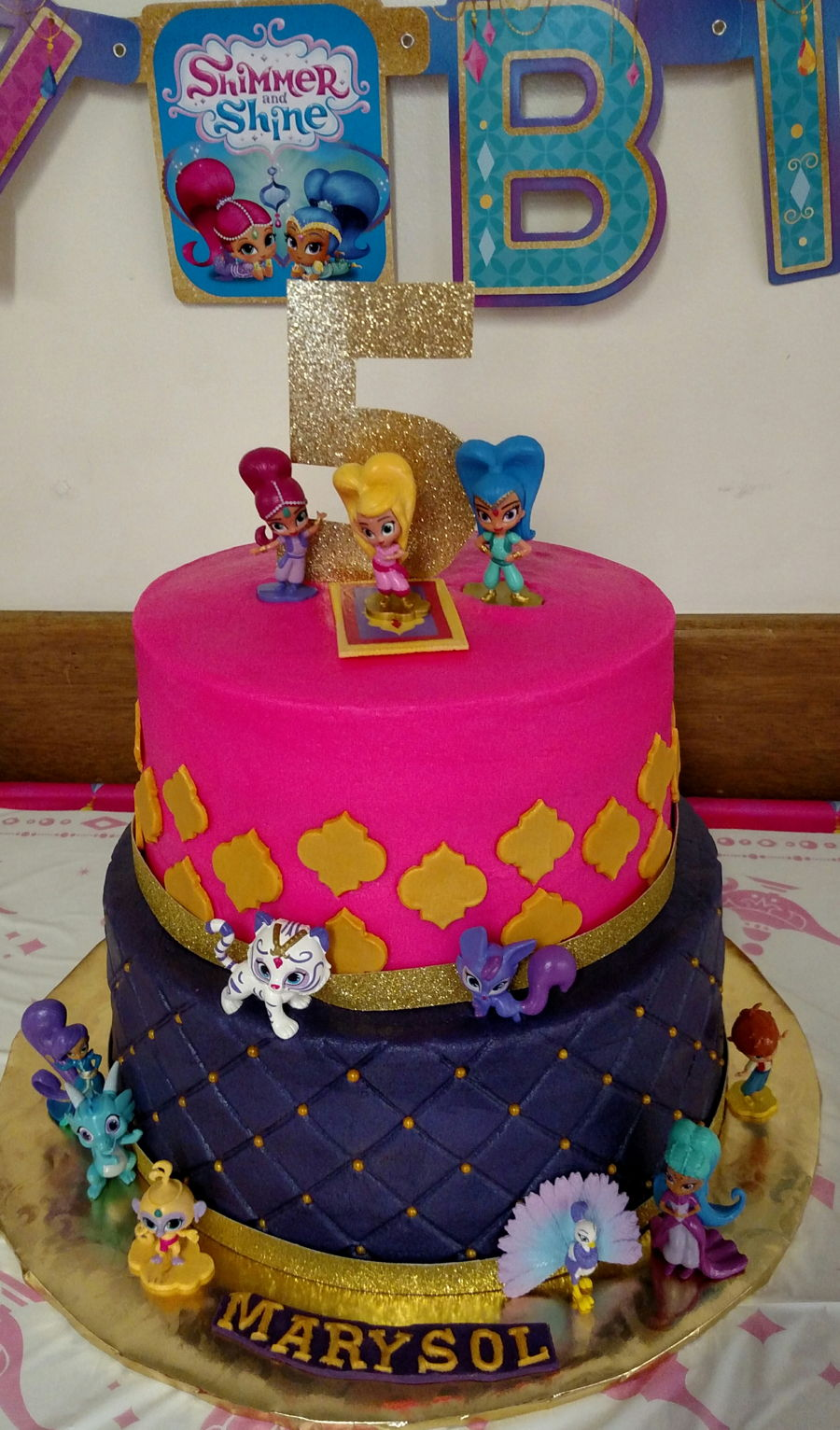Shimmer N Shine 5th Birthday Cakecentral Com