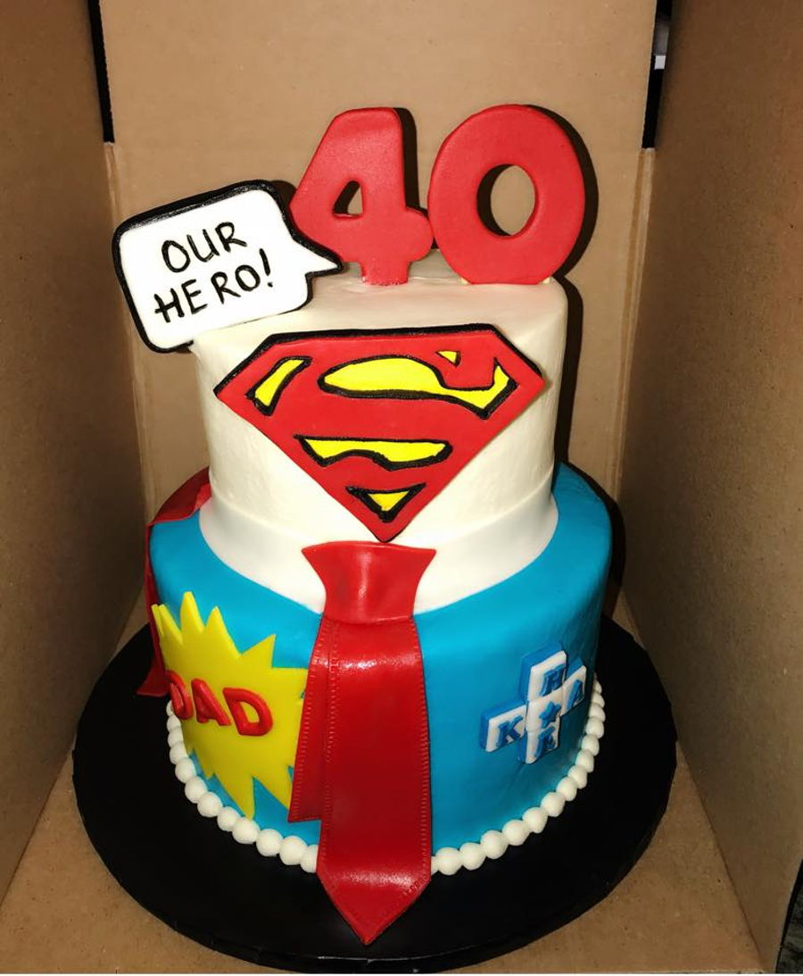 Stupendous Super Dad Cakecentral Com Funny Birthday Cards Online Bapapcheapnameinfo