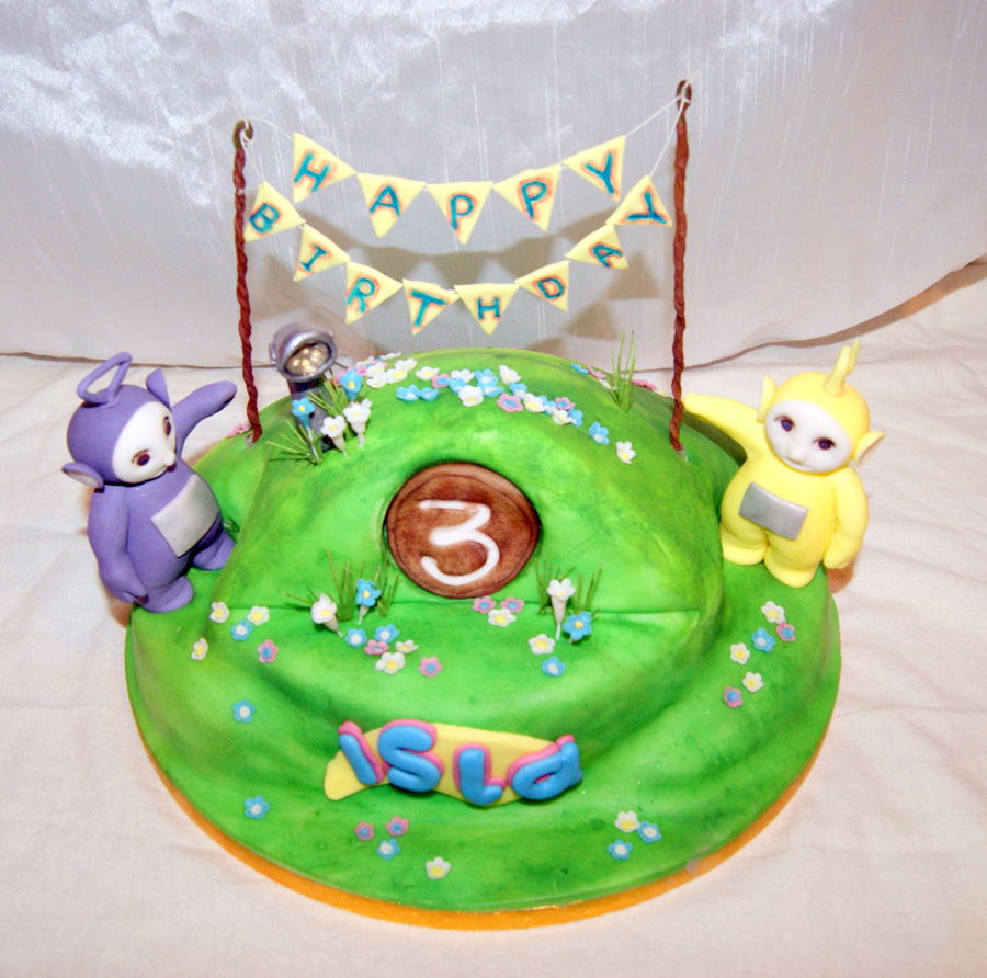 Terrific Teletubby Birthday Cake Cakecentral Com Birthday Cards Printable Nowaargucafe Filternl
