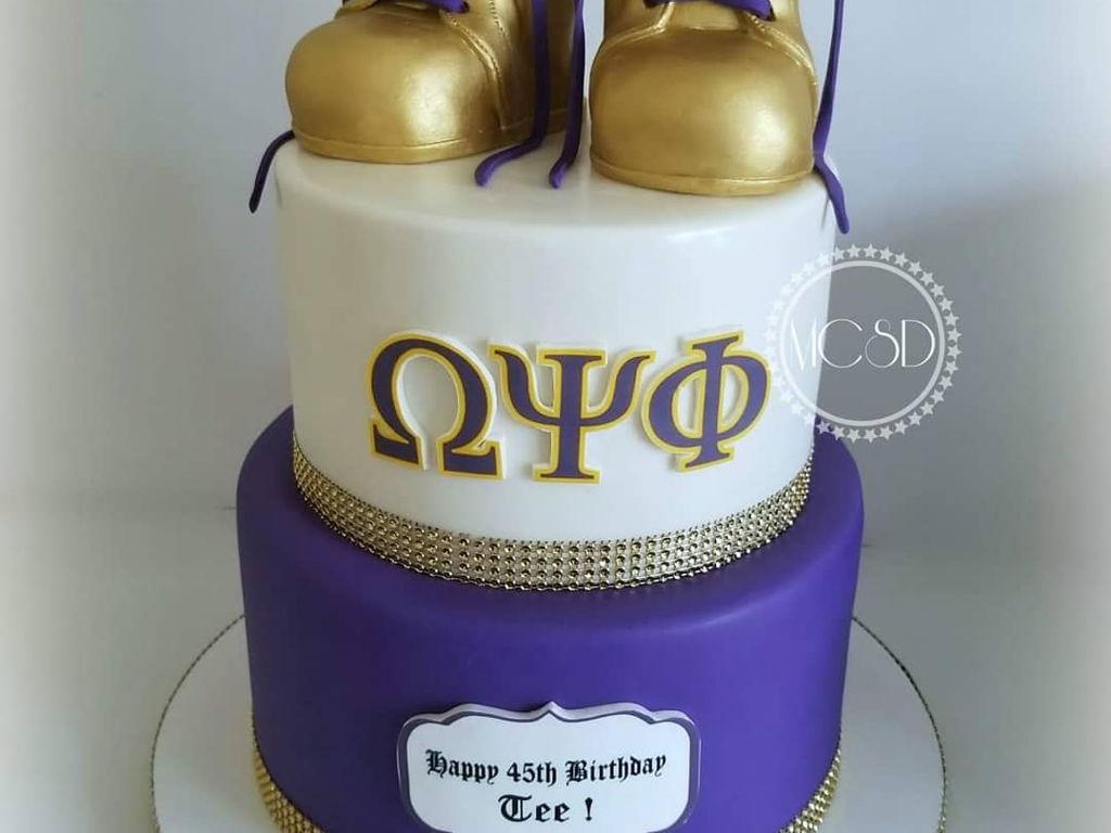 Super Omega Psi Phi Cake Cakecentral Com Funny Birthday Cards Online Elaedamsfinfo