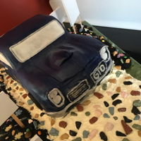 65 Gto 60Th Birthday Cake carved chocolate cake covered in chocolate clay.