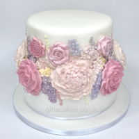Woman's 80Th Birthday Flower Cake 80th Birthday Flower Cake