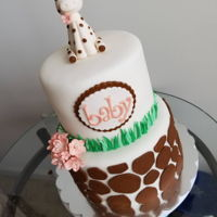 Baby Shower Cake Giraffe baby shower cake