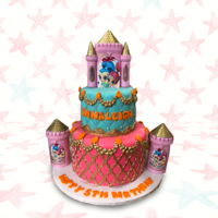 Castle Birthday Cake Castle Birthday Cake https://www.facebook.com/BAKERY-TREATZ-129972023694118/ www.bakerytreatz.com