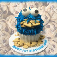 Cookie Monster Cake Cookie Monster Cake https://www.facebook.com/BAKERY-TREATZ-129972023694118/ www.bakerytreatz.com