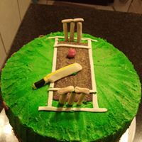 Cricket Themed Cake Cricket Themed Cake