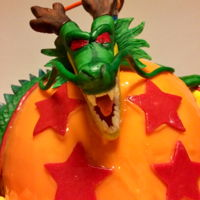 Dragonball Cake Dragonball cake I made for my dad's big 50! I put A LOT of effort into this one!Goku and Shenron are both made of modeling...