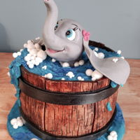 Dumbo Cake All hand sculpted made with modeling chocolate