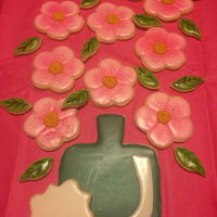 Floral Cookie Platter Floral decorated cookie platter!