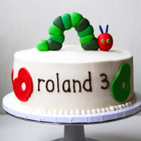 Hungry Caterpillar Birthday Cake hungry caterpillar birthday cake with handmade fondant topper