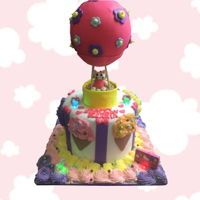 Ice Cream Hot Air Balloon Cake Ice Cream Hot Air Balloon Cake https://www.facebook.com/BAKERY-TREATZ-129972023694118/ www.bakerytreatz.com