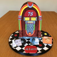 Jukebox Cake Really enjoyed this - my first time attempting wood grain and also first time using ganache rather than buttercream. My father in law was...