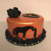 Lady With A Horse Cake Small birthday cake for a former lady jockey