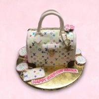 Lv Colorful Bag Cake LV Colorful Bag Cake https://www.facebook.com/BAKERY-TREATZ-129972023694118/ www.bakerytreatz.com
