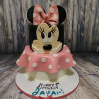 Minnie Mouse Cake Minnie mouse cake and cupcakes For a cute little one year old