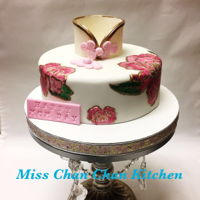 Mother'S Day Celebrate Cake ~ Traditional Chinese Dress Cake Fondant cover filling with chocolate ganache