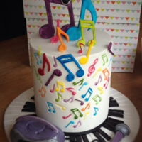 Music Notes I made a cake for a very grown up young girl who loves music and her purple stereo is her favourite thing in the world!! She's also a...