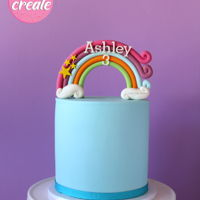 Rainbow Cake Topper Tutorial A simple, fun and bright rainbow cake. Find the full step by step photo tutorial at https://www.lovecakecreate.com.au/rainbow-cake-topper-...