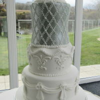 Sage Green And White Wedding Cake Sage green and white wedding cake