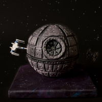 Star Wars Death Star Star Wars Grooms cake made with a 50 50 mix of modeling chocolate and fondant