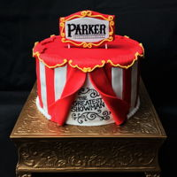 The Greatest Showman The Greatest Showman cake. 3 layer, 9 inch cake with fondant. Hand-written lettering with edible marker.