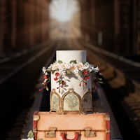 Travelers Wedding Cake For the Cake Central Magasine :)