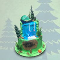 Waterfall Birthday Cake Waterfall Birthday Cake https://www.facebook.com/BAKERY-TREATZ-129972023694118/ www.bakerytreatz.com