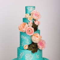 Welcome To Spring Wedding Cake Buttercream finish with gumpaste flowers and accentsProfessional Photos Chad Munro