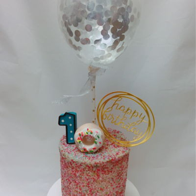 Ballon Theme Birthday Cake