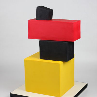Cake Based On One Of The Avant-Garde Painting By Kazimir Malevich