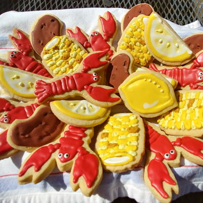 Crawfish Or Lobster Boil Sugar Cookies