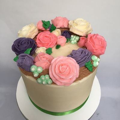 Flower Buttercream Birthday Cake