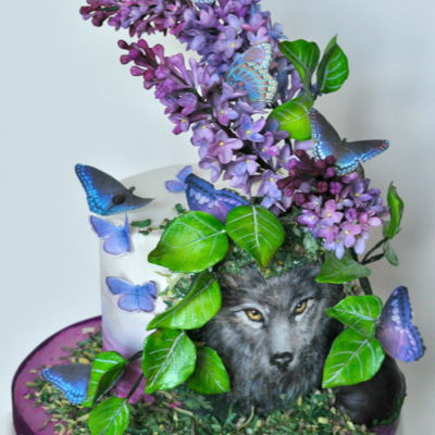 Lilacs And Wolf