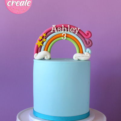 Rainbow Cake Topper Tutorial on Cake Central