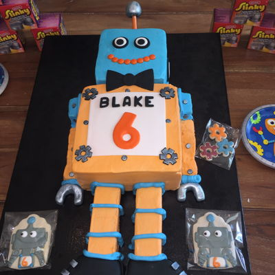 Robot Cake Robot cake for my nephew Blake's 6th Bday party