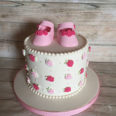 Vintage Baby Shoes Cake