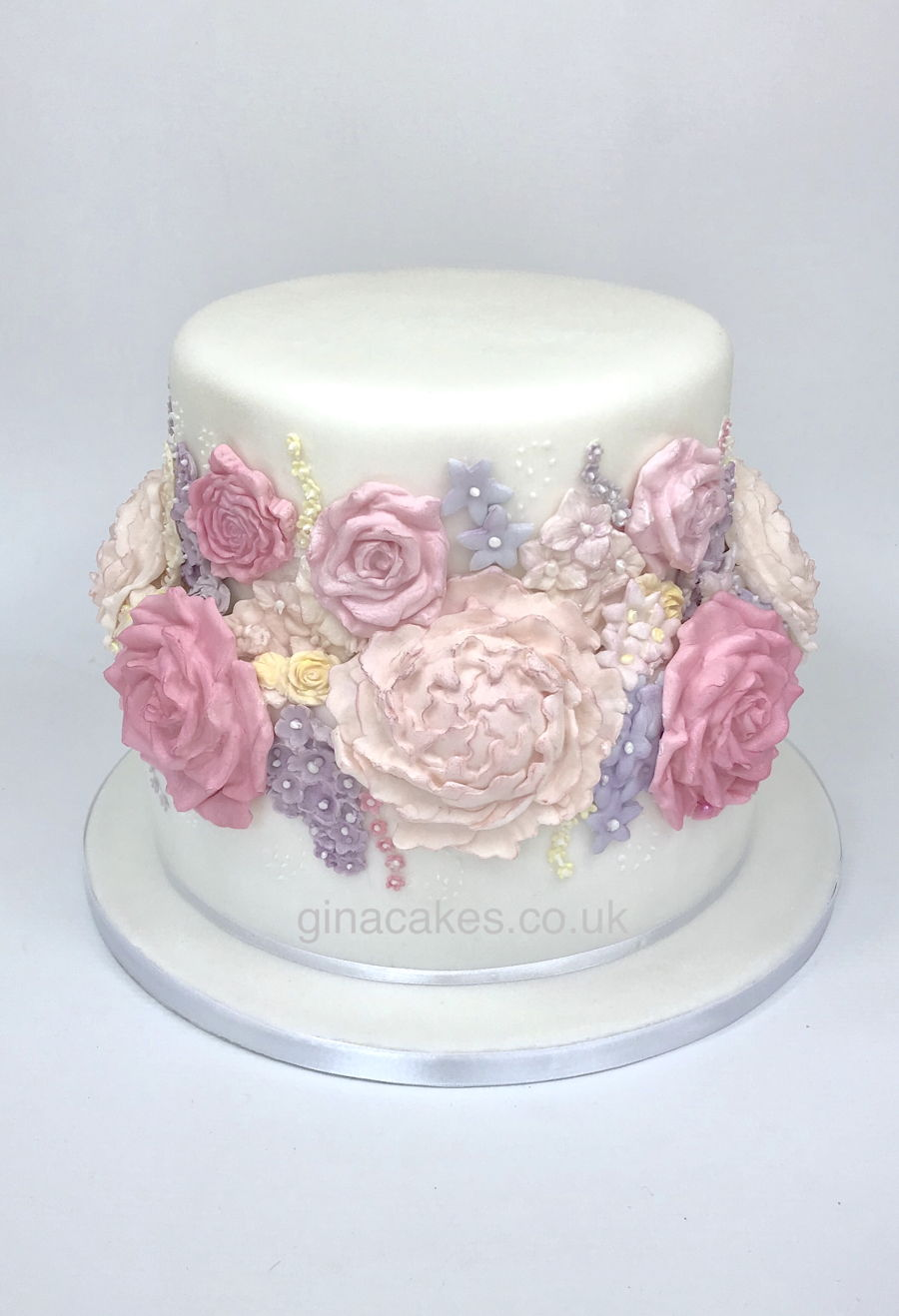 Womans 80th Birthday Flower Cake Cakecentral