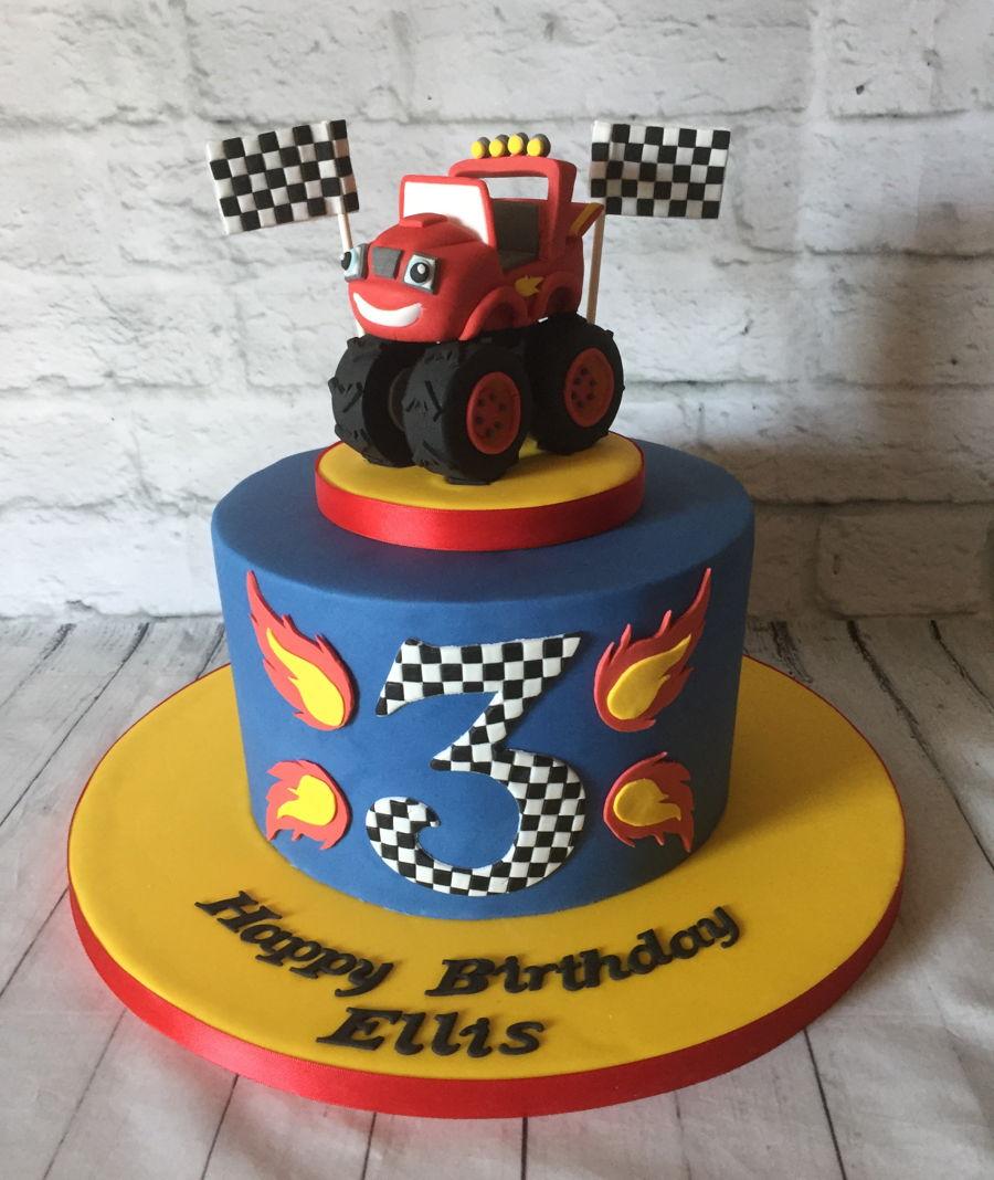 Superb Blaze Monster Truck Cakecentral Com Personalised Birthday Cards Veneteletsinfo