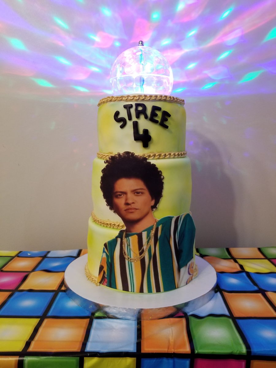 Bruno Mars Disco Ball Cake on Cake Central