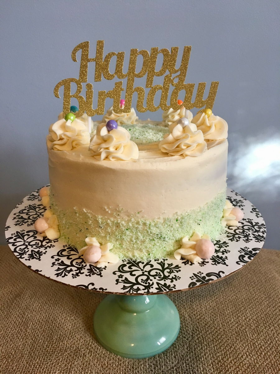 Coconut Lemon Birthday Cake - CakeCentral.com