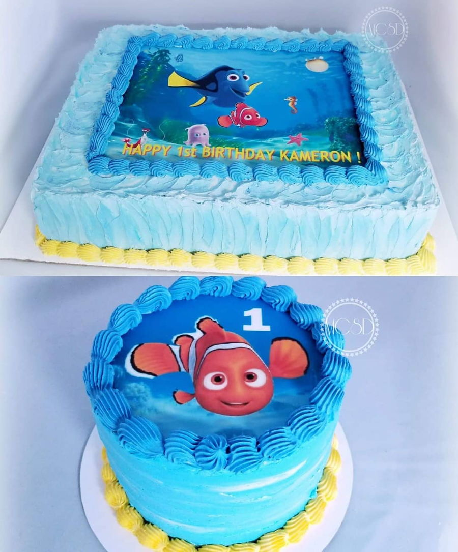 Outstanding Finding Nemo 1St Birthday Cake Cakecentral Com Funny Birthday Cards Online Inifodamsfinfo