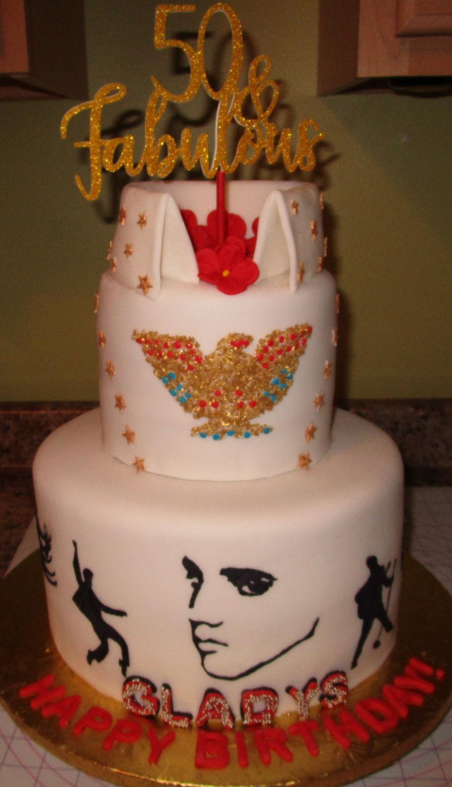 Surprising Gladys Elvis Birthday Cake Cakecentral Com Birthday Cards Printable Opercafe Filternl