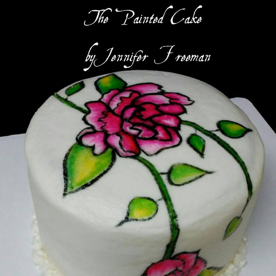 Hand Painted Buttercream Cake on Cake Central