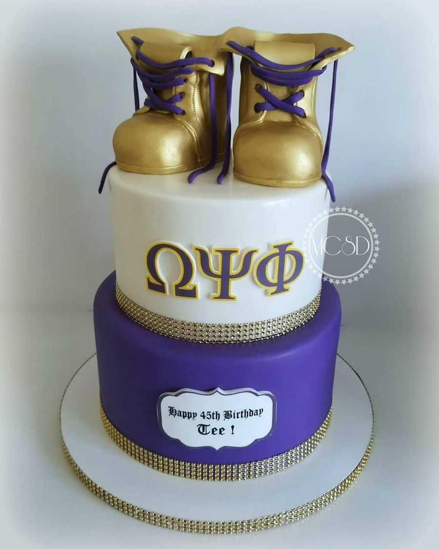 Omega Psi Phi Cake Toppers