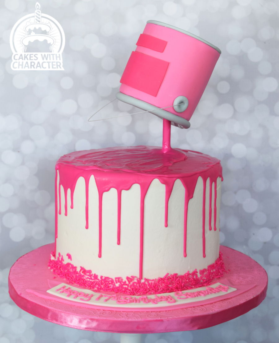 Paint Drip Can Cakecentral Com