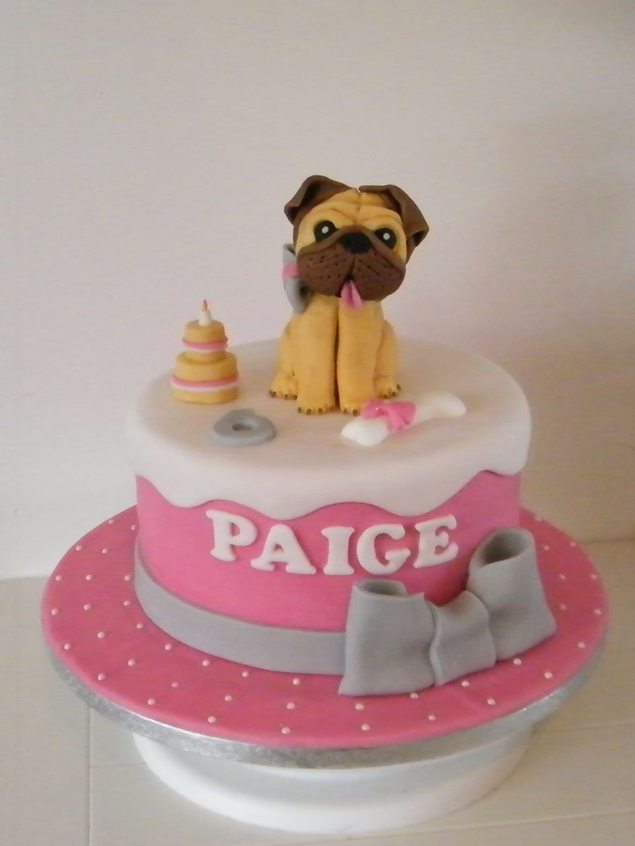 Pug Birthday Cake - CakeCentral.com